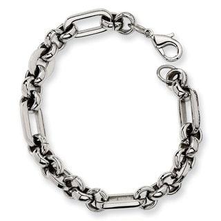 Versil Chisel Stainless Steel 7.5-inch Men's Link Bracelet