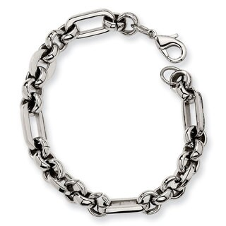 Versil Chisel Stainless Steel 7.5-inch Men's Link Bracelet|https://ak1.ostkcdn.com/images/products/12035506/P18907525.jpg?_ostk_perf_=percv&impolicy=medium