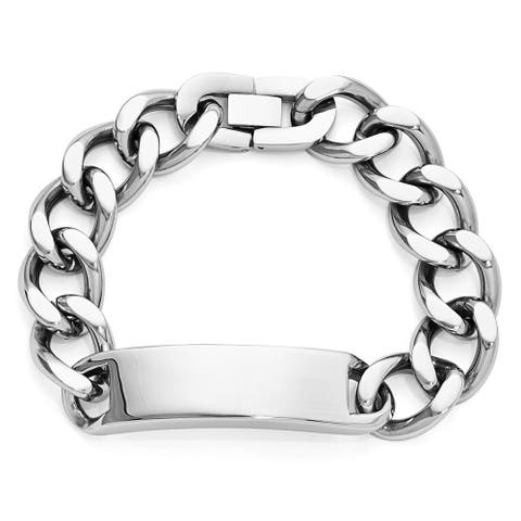 Chisel Stainless Steel Polished 9 Inch Identification Men's Bracelet
