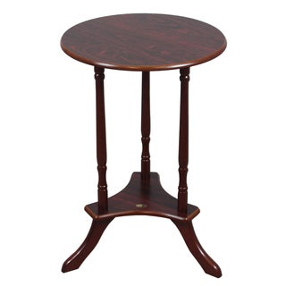 Round Brown Wood Coffee/End Table
