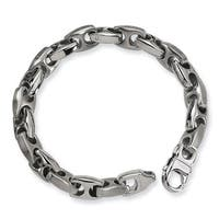 Versil Stainless Steel Brushed and Polished 8.25-inch Bracelet