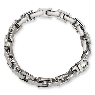 Chisel Stainless Steel Polished 8.5-inch Bracelet