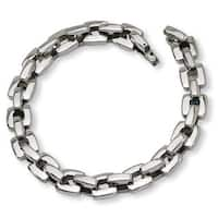 Versil Men's High-polish Stainless Steel 9-inch Bracelet
