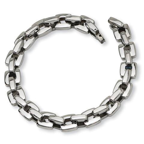 Chisel Stainless Steel High Polished Men's Link 9 Inch Bracelet