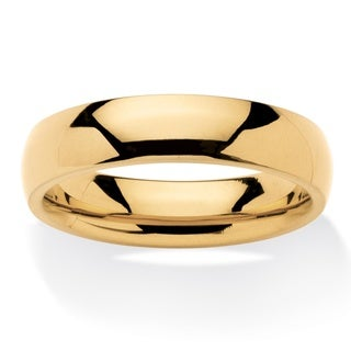 Men S Comfort Fit 5 Mm Wedding Band In Gold Ion Plated Stainless Steel