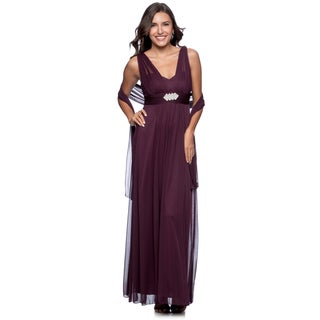 DFI Women's Long Evening Gown 2XL Size in Ivory (As Is Item)