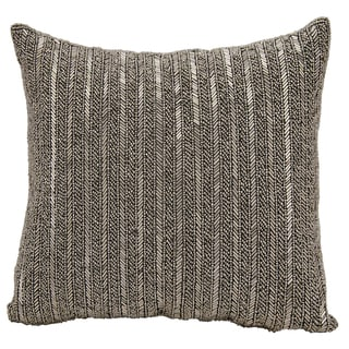 Mina Victory Beaded Stripes PewterThrow Pillow by Nourison (18-Inch X 18-Inch)