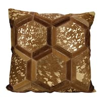 Mina Victory Metallic Hexagon Amber/ Gold Throw Pillow by Nourison (20-Inch X 20-Inch)