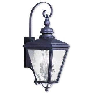 Livex Lighting Cambridge Bronze 3-light Outdoor Wall Lantern