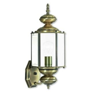Livex Lighting Outdoor Basics 1-light Antique Brass Outdoor Wall Lantern