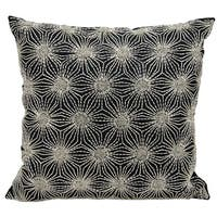 Mina Victory Beaded Sun Stars Black/ Silver 16 x 16-inch Throw Pillow by Nourison