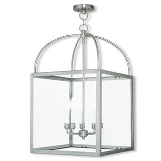 Livex Lighting Milford 5-light Brushed Nickel Lantern