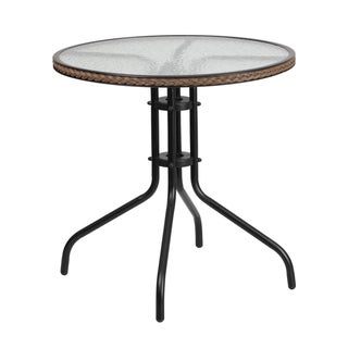 Round outdoor metal table Coffee Buy Metal Outdoor Coffee Side Tables Online At Overstockcom Our Best Patio Furniture Deals Overstock Buy Metal Outdoor Coffee Side Tables Online At Overstockcom Our