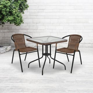 28-inch Square Tempered Glass Metal Table with Rattan Edging|https://ak1.ostkcdn.com/images/products/12035762/P18907715.jpg?impolicy=medium