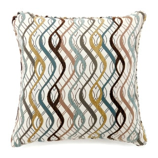 Furniture of America Oceana Wavy Pattern Throw Pillow (Set of 2)