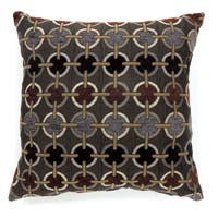 Furniture of America Becca Circle Pattern Throw Pillow (Set of 2)