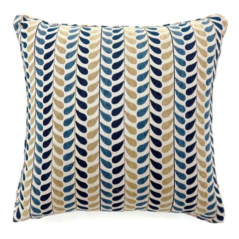 Furniture of America Leilan Striped Leaf Pattern Throw Pillow (Set of 2)