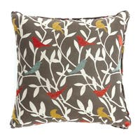 Furniture of America Birder Patterned Throw Pillow (Set of 2)