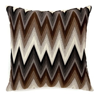 Furniture of America Sentra Brown Chevron Accent Throw Pillow (Set of 2)