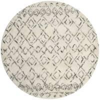 Safavieh Handmade Casablanca Ivory/ Grey Wool Rug - 6' Round