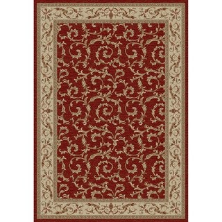Jewel Veronica Ivory/Red Polypropylene/Olefin/Synthetic Fiber Machine-made Rug (6'3 x 9'3)