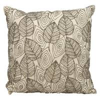 Mina Victory Beaded Leaves Ivory/ Pewter ThrowPillow by Nourison (18-Inch X 18-Inch)