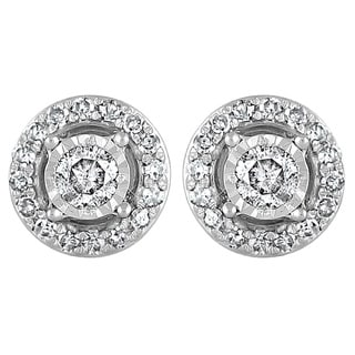 925 Sterling Silver 1/4 ct T.W. Fashion Earring (I-J, I2-I3)