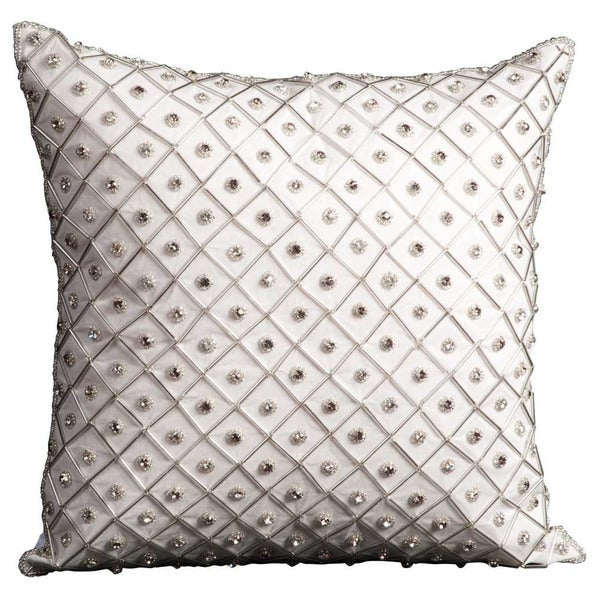 Mina Victory Luminescence Bridal Diamonds Ivory Throw Pillow by Nourison (16-Inch X 16-Inch)