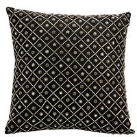 Mina Victory Luminescence Bridal Diamonds Black Throw Pillow by Nourison (16-Inch X 16-Inch)