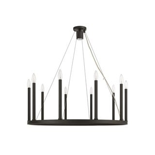Livex Lighting Alpine Bronze Finish Steel Chandelier