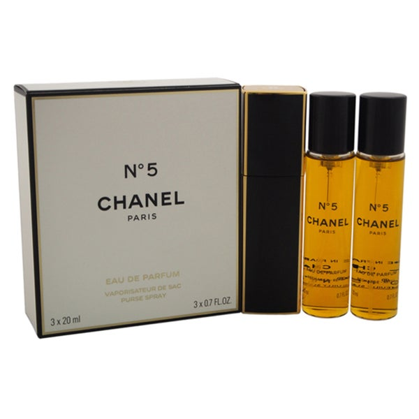 fd25e9e9e78f Shop Chanel No.5 Women's 0.7-ounce Eau de Parfum Purse Spray plus 2 Refills  - Free Shipping Today - Overstock - 12036264