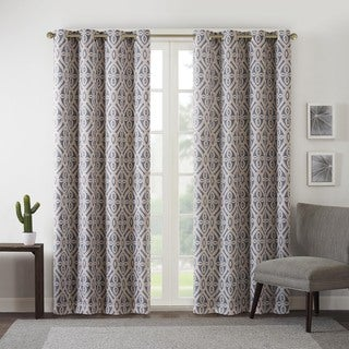 Intelligent Design Arlo Printed Curtain Panel with Blackout Lining