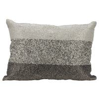 Mina Victory Luminescence Beaded Gradiation Pewter Throw Pillow by Nourison (14 x 20-inch)