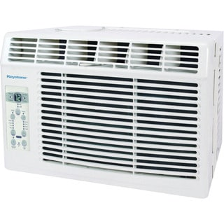 Keystone KSTAW08B 8,000 BTU 115-volt White Window-mounted Air Conditioner with 'Follow Me' LCD Remote Control