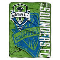 MLS 059 S Sounders Concrete Micro Raschel Throw