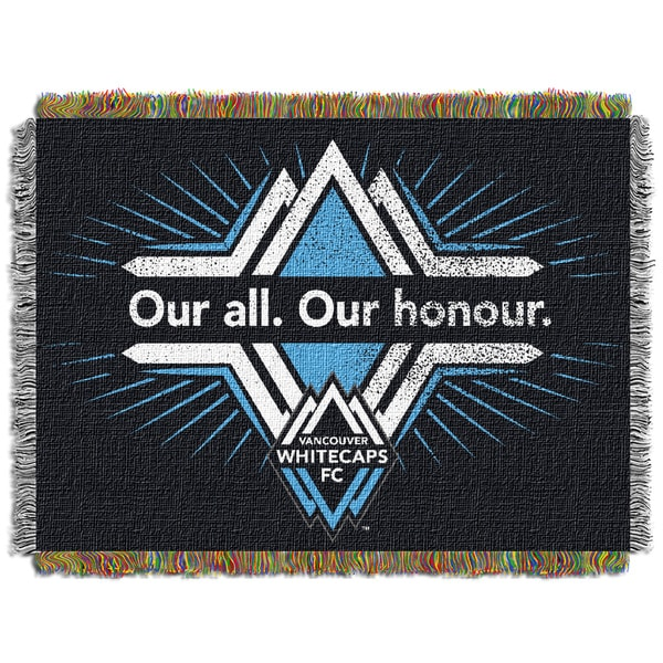Multicolored Polyester Vancouver Whitecaps Tapestry Throw