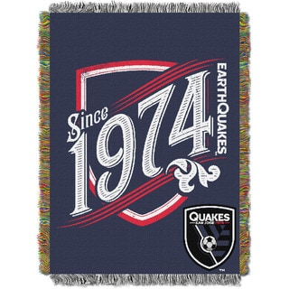 Multicolor Polyester San Jose Quakes Tapestry Throw Blanket