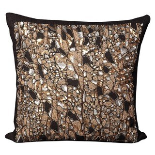 Mina Victory Luminescence Beaded Braches Black Throw Pillow by Nourison (20 x 20-inch)