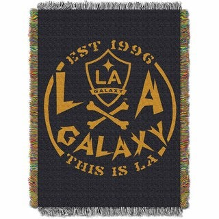 Multicolor Polyester L. A. Galaxy Tapestry Throw