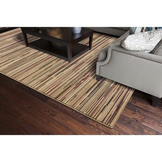 Machine -made Juliette Collection Sidney Multicolor Polypropylene Rug (3'11X5'7)