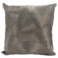 Mina Victory Luminescence Fan Design Pewter Throw Pillow by Nourison (20-Inch X 20-Inch)