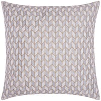 Mina Victory Luminescence Block Chevron Silver/Gold Throw Pillow by Nourison (20 x 20-inch)