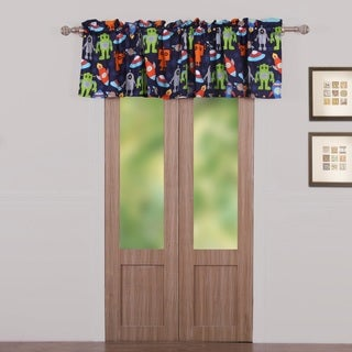 Greenland Home Fashions Robots in Space Multicolor Window Valance