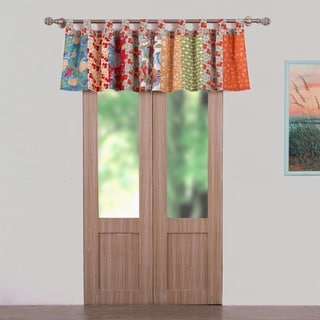 Terra Blossom Multicolored Polyester Window Valance