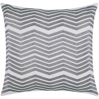 Mina Victory Luminescence Thick Chevron Silver Throw Pillow by Nourison (20 x 20-inch)