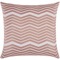 Mina Victory Luminescence Thick Chevron Rose/Gold Throw Pillow by Nourison (20-Inch X 20-Inch)