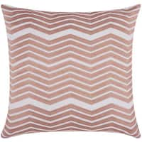 Mina Victory Luminescence Thick Chevron Rose/Gold Throw Pillow by Nourison (20 x 20-inch)