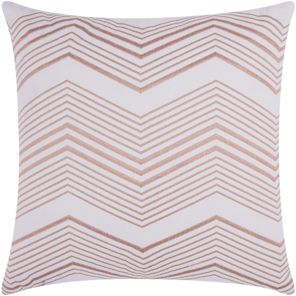 Mina Victory Luminescence Thin Chevron Rose/Gold Throw Pillow by Nourison (20 x 20-inch)