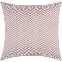 Mina Victory Luminescence Alternative Chevron Rose/Gold Throw Pillow by Nourison (20 x 20-inch)