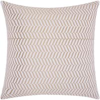 Mina Victory Luminescence Alternative Chevron Gold Throw Pillow by Nourison (20 x 20-inch)